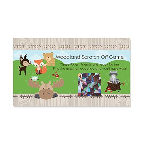 Woodland Creatures - Party Game Scratch Off Cards - 22 Count