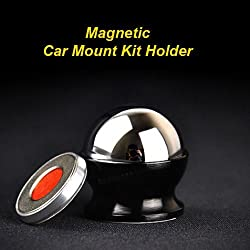 Magnetic Cell Phone Holder For All Phone Sizes, Apple Or Android - High Quality Adhesive Base - Easy Install On Any Surface Including Desk, Wall, Or Car Dashboard - Luxurios Design, Compact Packaging - 360 Degree Rotation Ball Mount -Completely Safe