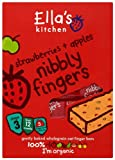 Ella's Kitchen Organic Strawberries and Apples Nibbly Fingers 125 g (Pack of 4)