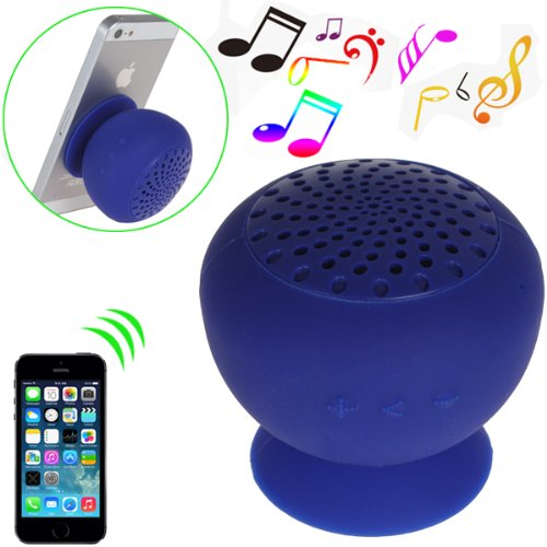 Digiyes® Mini Mushroom Appearance Wireless Bluetooth Speaker For Laptop Smartphone Tablet As A Tablet Stand Phone Stand (Blue)