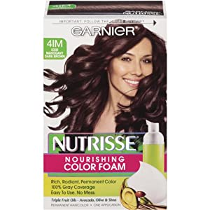Amazon.com : Garnier Nutrisse Nourishing Color Foam, Iced Mahogany