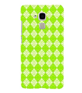 PrintVisa Corporate Print & Pattern Green Square 3D Hard Polycarbonate Designer Back Case Cover for HONOR 5C