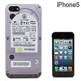 docomo SoftBank au iPhone5 専用 FLASHBACKS Old-School ケース スマホケース iPhone5ケース (ハードディスクドライブ)