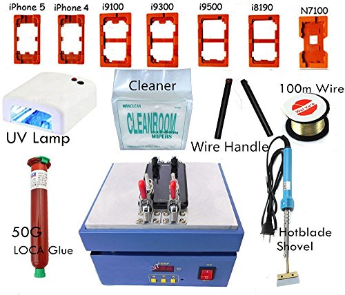 Totmc® Lcd Separator Machine Hot Plate For Screen Glass Repair Iphone 5 Galaxy S3 S4 (Screen Lcd Separator Machine + 7 Tools + 7 Plate)