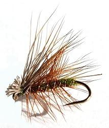 Flies Direct Elk Hare Caddis Olive Assortment Trout Fishing Flies (1-Dozen)