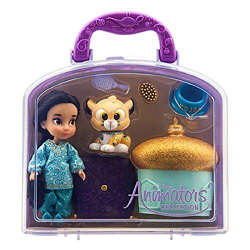 Disney-Disney-Animators-Collection-Jasmine-Mini-Doll-Play-Set-5-New
