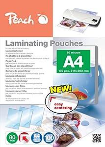 Peach PP580-02 Laminierfolien DIN A4, 80 mic, 100 Stück