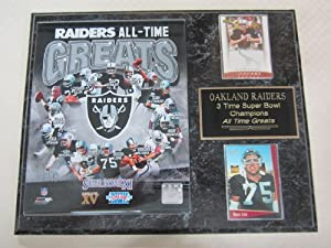 Oakland Raiders All Time Greats 2 Card Collector Plaque by J & C Baseball Clubhouse
