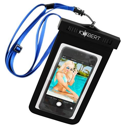 Kobert Wasserdichte Handyhülle (Deluxe), tasche hülle beutel für iPhone 7 Plus 7 6s 6 Plus Samsung Galaxy s7 Edge s7, Für Geld Reisepass, bis zu 6 Zoll, Einstellbarer lanyard, LEBENSLANGE GARANTIE