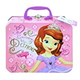 Disney Princess Sofia the First Deluxe Metal Tin Carrying Case - Lunch Box, Storage