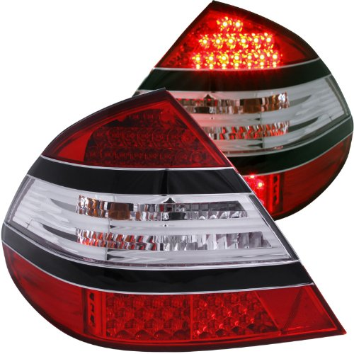 Anzo Usa 321142 Mercedes-Benz E55 Amg Red/Clear (Mid=Black) Led Tail Light Assembly - (Sold In Pairs)