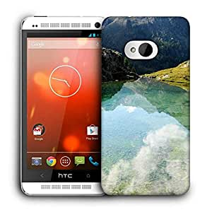 Snoogg Reflection Water Printed Protective Phone Back Case Cover For HTC One M7
