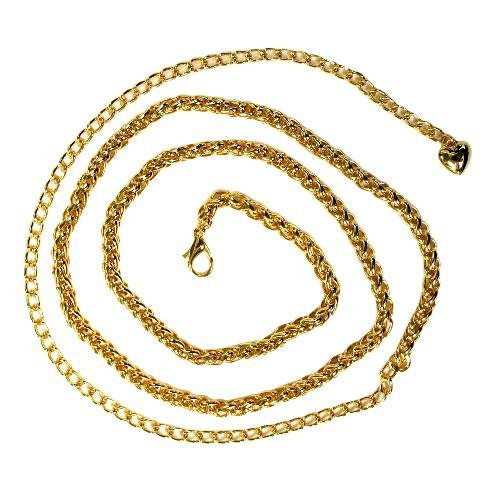 Gold Tone Snake Link Belly Chain Belt
