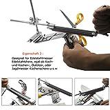 HiCollie Profi Messerschärfer Küche Knife Messerschleifer Fixed-Winkel Sharpener mit 4 Schleifsteinen -