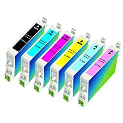 6pk Remanufactured Epson Printer Ink (Full SET - 1 each color) T048 for Epson Stylus Photo R200 R220 R300 R300m R320 R340 RX500 RX600 RX620 RX640