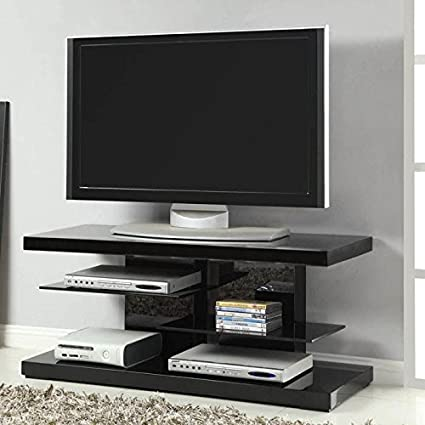 TV Stand in Glossy Black