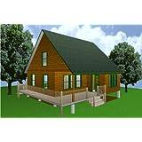 28x28 Cabin W/loft Plans Package, Blueprints, Material List