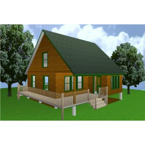 28x28 cabin w loft plans package blueprints material list