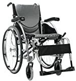 Karman Ergonomic Wheelchair in 18 inch Seat and Quick Release Axles, Pearl Silcer Frame