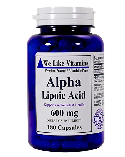 Pure Alpha Lipoic Acid 600mg 180 Capsules - 6 month supply - Best Value Alpha Lipoic Acid Capsules (Acid Capsules Extra compare prices)