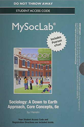 NEW MySocLab with Pearson eText--Stand Alone Access Card-- for Sociology: Core Concepts (6th Edition) (Rent Mastering Sociology compare prices)