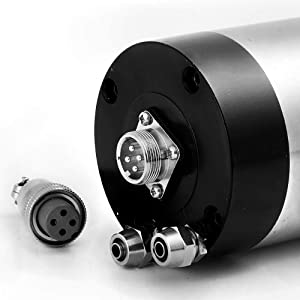Beauty Star Water Cooled CNC Spindle Milling Motor 220V 2.2KW 24000RPM 400hz ER20 Collet for Engraving Machine Water Colling Engraving Milling Spindle 220v AC Spindle 4 Bearing