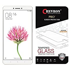 Chevron HD Clear Tempered Glass Screen Protector For Xiaomi Mi Max, Fit 99.9% Touch Accurate, 0.3mm