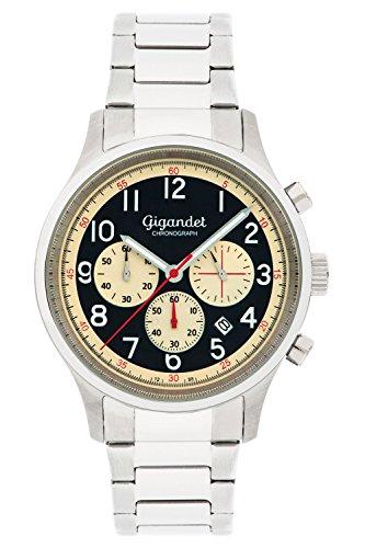 Gigandet EFFICIENCY Orologio Uomo Cronografo Analogico Quarzo Argento Beige G50-005