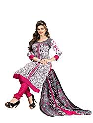 Bdow Women's indo Cotton Salwar kameez dress material with cotton dupatta