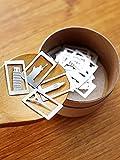 【20枚セット】世界の名所シリーズ(自由の女神・エッフェル塔・ピサの斜塔・ビッグベン) ステンレス製ブックマーク しおり BOOK LINE MARKER Architectural elements