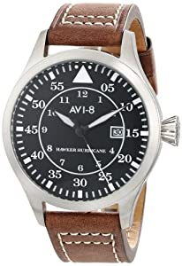 AVI-8 Men's AV-4012-02 Hawker Hurricane Analog Japanese-Quartz Brown Watch