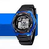 KANO BAK Child Kids Boy girl Student Digital Quartz Alarm Sports Waterproof Christmas gift Watch Blue