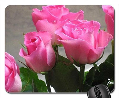 Fresh & Pink Mouse Pad, Mousepad (Flowers Mouse Pad)