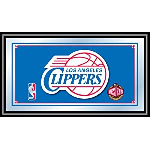 NBA Los Angeles Clippers Logo Framed Mirror by Trademark Global