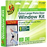 Duck Brand  Indoor Extra Large Window/Patio Door Shrink Film Kit, 84-by-120-Inch