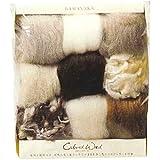 ハマナカ 羊毛カラードウール9色セット