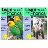 'Learn To Read With Phonics' Books 1 and 2 box set (Fun, colour in phonic reading scheme. Proven to teach children to read in just 8 booksby Sally Jones