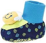 Mee Mee Unisex Blue Cotton Booties (Blue) - 6-9 Months
