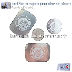 Metal Plate Kit 1 of Round Small 2 of Rectangular for Magnetic Phone Holder Dash Mount Metallic Plates Replacement with Adhesive