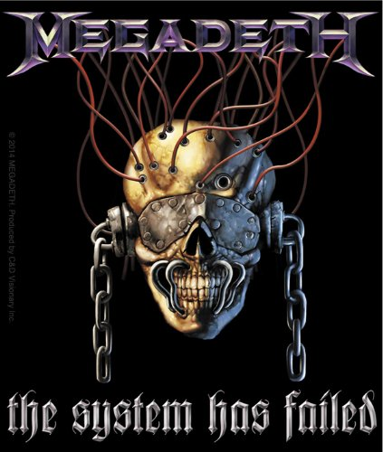 Licenses Products Megadeth System Has Failed Sticker
