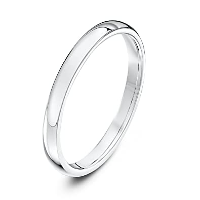 Theia Unisex Super Heavy Court Shape Polished Platinum Wedding Ring