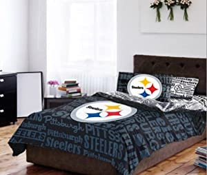 Pittsburgh Steelers TWIN Comforter & Sheets (4 Piece Bedding) by NFL