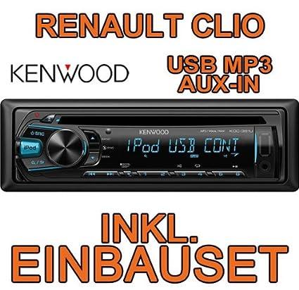 Renault clio 1 2 & kenwood kDC - 361 u-cD/mP3/uSB avec kit de montage