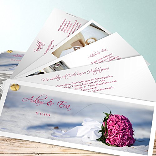 Einladungskarten zur Hochzeit, Brautstrauß 175 Karten, Kartenfächer ...