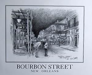 Amazon Com New Orleans Bourbon Street Art Print Don Davey
