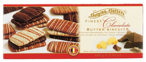 Belgian Butters Finest Chocolate Butter Biscuits -  Milk, Dark and White Chocolate 100 g (Pack of 3)