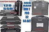PANASONIC CF-30 TOUGHBOOK RHINO LINED BLACK 128 SSD 4GB RAM WIN 7 PRO 32BIT