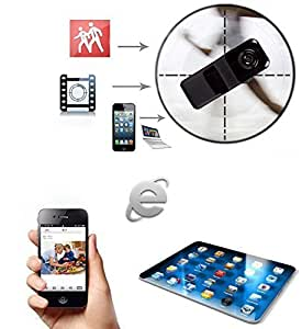 Techno elecreonics Techno elecreonics Mini Remote SPY Camera for Iphone Android Ipad Pc Mini Wifi Ip Wireless Spy Surveillance Camera Remote Cam With FREE Car non slip anti skid mat