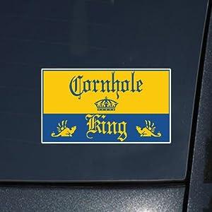 Amazon.com: Cornhole King (Corona Novelty) Decal Sticker