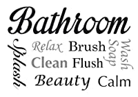 Crearreda CR-62305 Bathroom Wall Sayings Decal from Crearreda